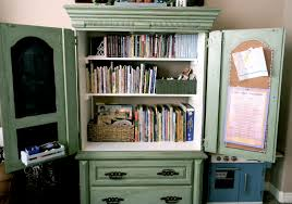 Repurpose Changing Table by Little Bit Of Paint Repurposed Armoire Update