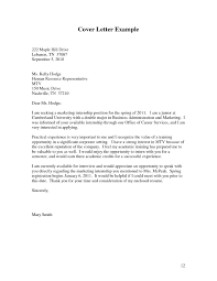 How To Make A Successful Resume Sample Cover Letter For Students Applying An Internship How To