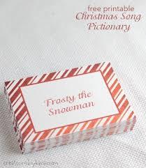 free printable christmas song lyric games christmas songs pictionary free christmas game