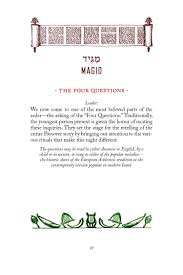 new union haggadah four questions about the new union haggadah