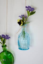 flower vase made of tiny bottles sew a fine seam