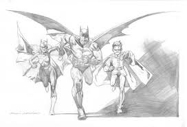kevin nowlan batman family pencil drawing 2001