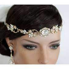 gold hair accessories wedding hair accessory gold forehead band vintage headband s