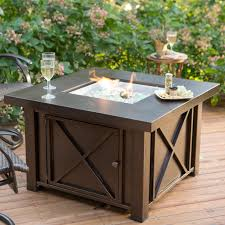 Table Patio Heaters Dining Table With Pit In Middle Gas Tables Diy Curved Bench