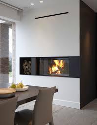 cheminee moderne design cheminée à bois contemporaine design original à foyer ouvert