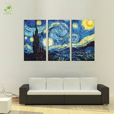 aliexpress com buy 3pcs masters starry night vincent van gogh aliexpress com buy 3pcs masters starry night vincent van gogh prints reputation oil painting on canvas wall art picture for living room picture from