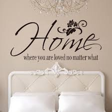 free shipping wall art decals quotes home where you are loved no