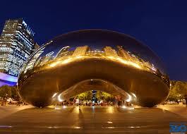 The Bean Chicago Map by Cloud Gate U2013 The Bean