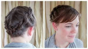 step by step braid short hair rope braided updo for short hair parlor diary