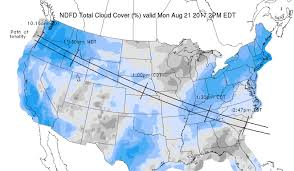 World Cloud Cover Map by Mostly Good Viewing Weather In The Us For Monday U0027s Eagerly Awaited