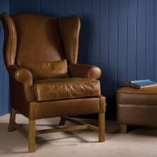 Leather Wingback Chair With Ottoman Design Ideas Furniture Luxury Leather Wingback Chair For Armchair