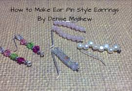 ear pin earrings how to make ear pin climber earrings by mathew