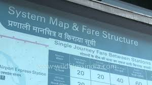 Metro Blue Line Map Delhi by System Map And Fare Structure At Dhaula Kuan Metro Station Youtube