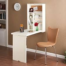 wall mounted desk amazon amazon com wood wall mount fold out convertible laptop desk