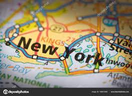 New York On Map New York City On Map U2014 Stock Photo Icemanj 159613462