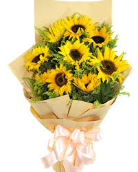 sunflower bouquet sunflowers bouquet 8 stems sunflower bouquet delivered in china