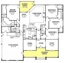 4 bedroom ranch floor plans the kitchen adn master suite also the desk in the near