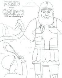 david goliath coloring pages download print free