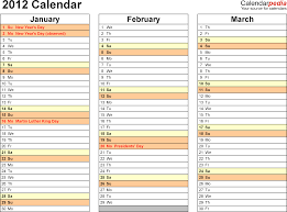 2012 calendar excel 10 free printable templates xls xlsx