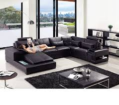 Leather Sectional Sofa Bed by Dreamfurniture Com Divani Casa T285 Modern Leather Sectional Sofa