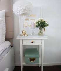 Ikea Nightstand White Best 25 Bedside Table Decor Ideas On Pinterest Side Table