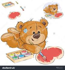 vector illustration of a brown teddy bear lies on the floor and