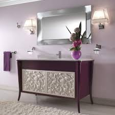 fancy decorating ideas using rectangular brown wooden vanity