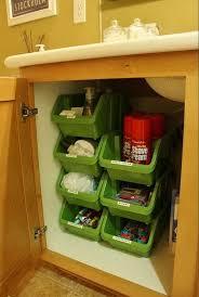 bathroom cabinet organization ideas creative sink storage ideas plastic bins bathroom cabinets