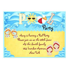 custom invites kids pool party invitation plus colorful kids pool party