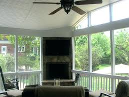 decoration screened porch fireplace pictures ideas images cost