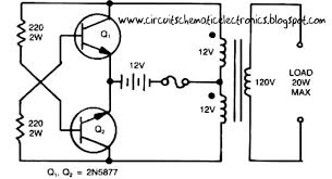 this is a simple inverter circuit from 12 v up to 120v elevated