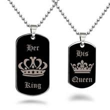 his and hers dog tags popular crown dog tag buy cheap crown dog tag lots from china