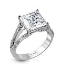 princess diana s engagement ring princess cut diamond engagement rings martha stewart weddings