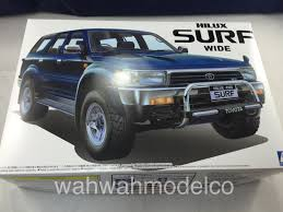 surf car 2016 aoshima 044148 1 24 no 97 hilux surf wide 4runner wah wah