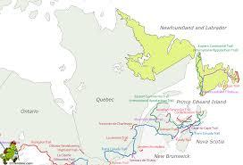 Newfoundland Map Hiking Map Newfoundland And Labrador Gif