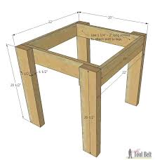 How To Build An End Table Simple Kid U0027s Table And Chair Set Her Tool Belt