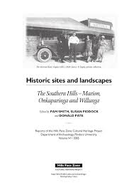 historic sites and landscapes the southern hills marion