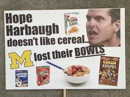 Jim Harbaugh Memes - espn s college gameday signs by nudge printing