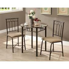 Dining Room Table With Swivel Chairs by Dining Room 3 Piece Dining Sets In Monarch Specialties With Grey