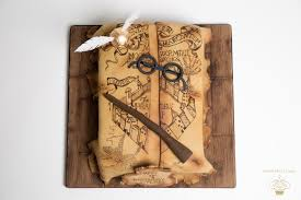 Harry Potter Map Hand Painted Harry Potter Marauders Map Birthday Cake Luxury