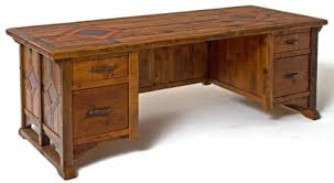 Reclaimed Wood Executive Desk Rustic Office Desks Crafts Home