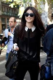 black blouse with white collar sui he charming model playsuits