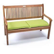 panchina in legno da esterno cuscino verde per panca legno 2 posti da giardino 110 x 42
