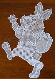 Easter Window Decorations Pinterest by 10573 Easter Bunny Free Standing Lace Window Decoration Romanian