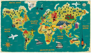 travel world map map of the world travel major tourist attractions maps