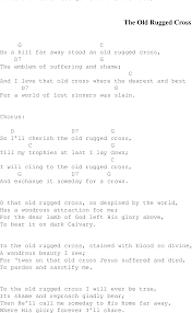Old Rugged Cross Music The Old Rugged Cross Christian Gospel Song Lyrics And Chords