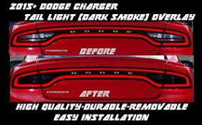 Tail Light Out 2015 2016 2017 Dodge Charger Tail Light Dark Smoke Overlay Tint