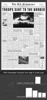 1950s newspaper template front page u0026 inside page by hansv