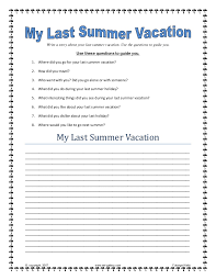 my last vacation