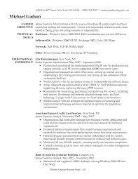 Administrative Resume Template Resume Samples For System Administrator Job Position Vinodomia